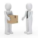 consulente con pacco