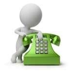 omino con telefono